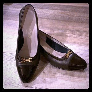 Salvatore Ferragamo Brown Leather Pumps